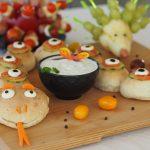 Partyschlange aus Lebensmittel für Kinder