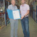 Für 40 Jahre Betriebszugehörigkeit wurde Arthur Stingel ausgezeichnet
