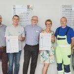 Für 40 Jahre Betriebszugehörigkeit erhielten Marlies Neu und Rüdiger Plesse eine Ehrung