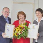 Ihr 40-jähriges Betriebsjubiläum feierte Agnes Hog in Mannheim
