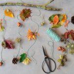 Bastelanleitung Mobile mit bunten Blättern