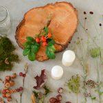 Anleitung herbstlicher Tisch-Dekoration