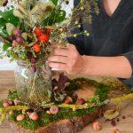 Herbstliche Tisch-Dekoration