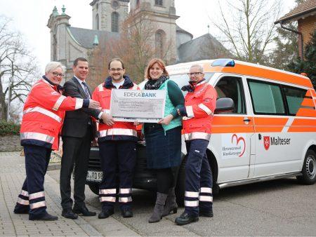 Spendenscheckübergabe an den Förderverein Malta Bruchsal e. V.