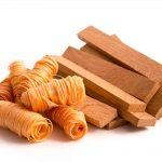 Natürliche Anzünder bestehen meistens aus Holz.